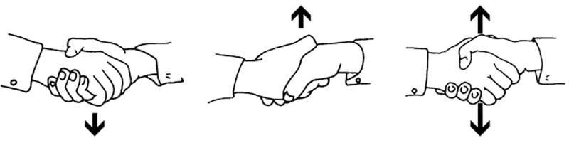 tipos de apretón de manos